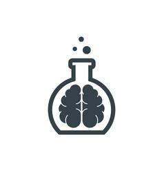 lab brain concept logotype template design vector image