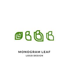 leaves b logo vector image