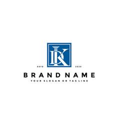 Letter dk law logo design concept vector