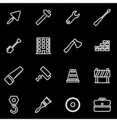 line construction icon set vector image