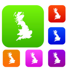 map of great britain set collection vector image