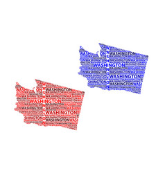 map of washington state vector image