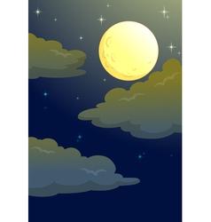 Moonlit evening vector