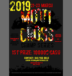 Motorcycle event portrait poster vector