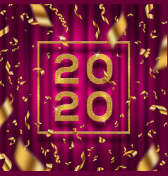 new year 2020 greeting design vector image