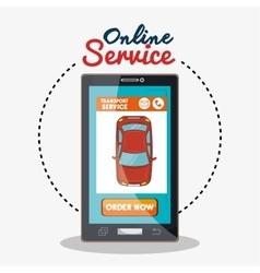 online service transport service vector image