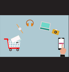 Order smartphone vector