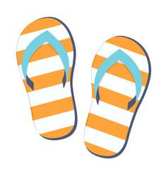 Pair flip flops vector