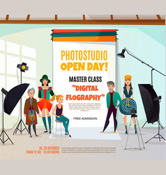 Photo studio ad poster vector