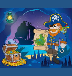 pirate cove theme image 4 vector image