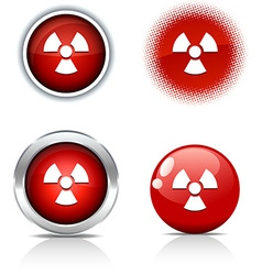 Radiation buttons vector