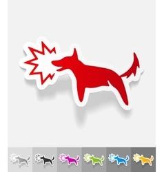 Realistic design element dog barking vector