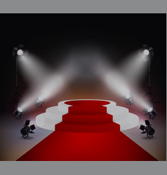 red carpet realistic concept vector image