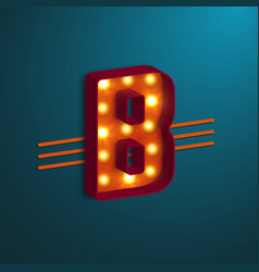 retro style letter b vector image