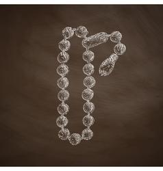 Rosary icon vector