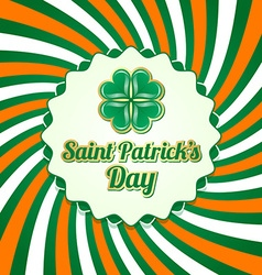 Saint Patricks Day badge vector image