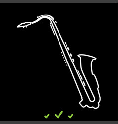 saxophone it is white icon vector image