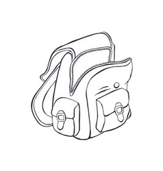 school backpack sketch vector image