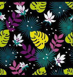 seamless tropical pattern fashion textile pattern vector image
