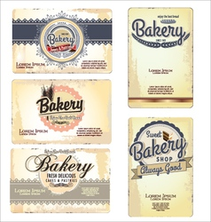Set 5 bakery business card templates vector