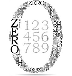 set of number created from text vector image