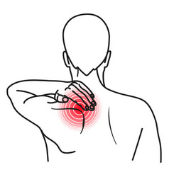 shoulder pain icon injury or disease problem vector image