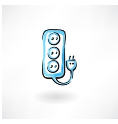 socket grunge icon vector image