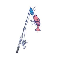 Spincash reel catch the lobster food vector