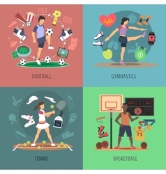 Sport people design concept set vector