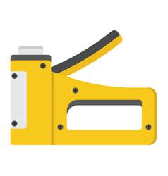 staple gun flat icon build and repair stapler vector image