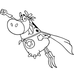 Super hero cow cartoon vector