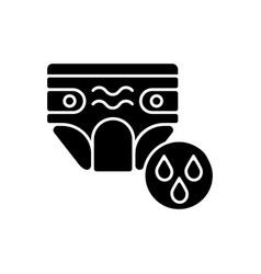 Swim diaper black glyph icon vector