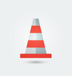 traffic cone iconflat color style vector image