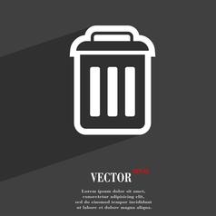 trash icon symbol Flat modern web design with long vector image