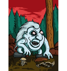Troll in the forest vector
