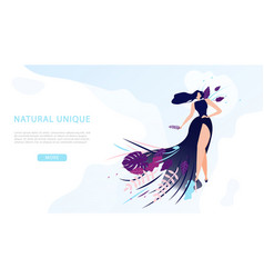 unique materials in clothing web banner vector image