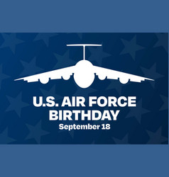 us air force birthday september 18 holiday vector image