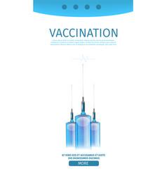 Vertical vaccination editable medical webpage vector