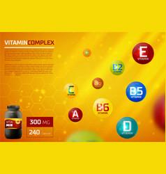 vitamin complex template vector image