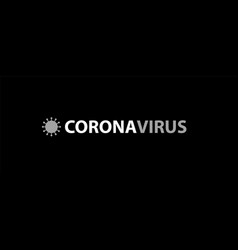 With text corona virus image vector
