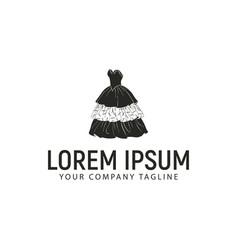 women fashion logo design concept template vector image