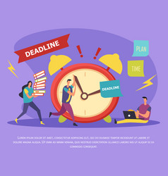 Work in deadline flat composition vector