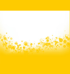 Yellow bubbles background vector