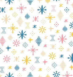 Abstraction shapes seamless pattern vector image vector image