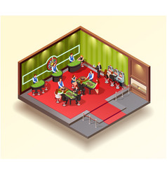 casino isometric design concept vector image vector image