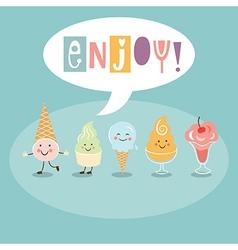 Funny Ice Cream vector image vector image