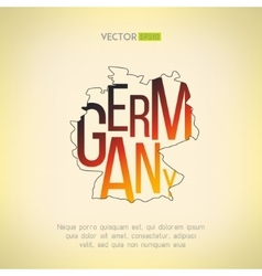 germany map in vintage design German vector image