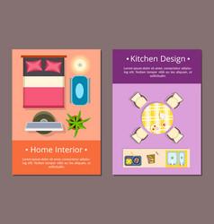 home interior kitchen design vector image vector image