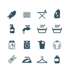 housework and laundry icon vector image
