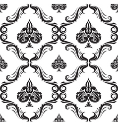 Pattern Spades Ornamental Black and White vector image